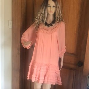 Filly Flair Peach Dress Size S/M